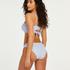 Bas de bikini Rio Scallop, Bleu