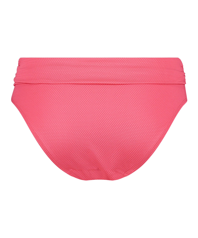 Slip de bikini échancré Ruffle Dreams, Rose, main