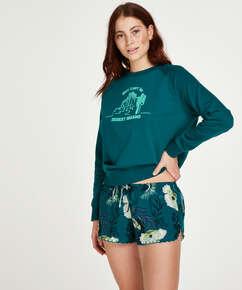 Short de pijama, Gris