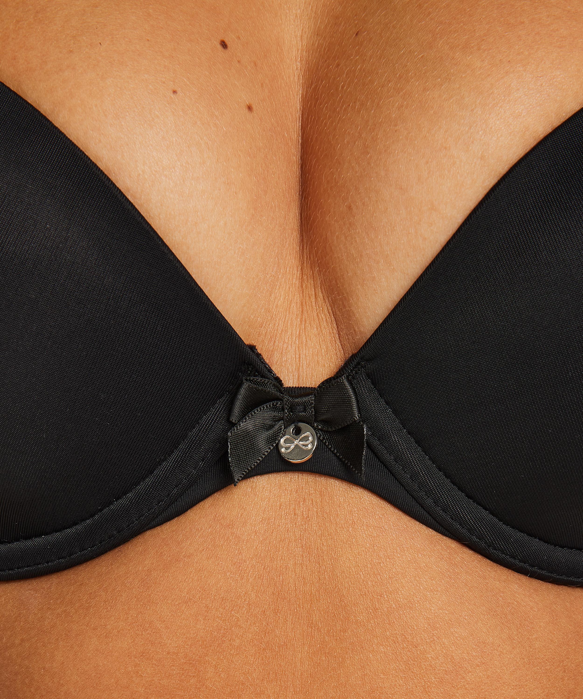 Soutien-gorge à armatures préformé Plunge, Noir, main