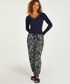 Petite Pantalon Fleece, Bleu