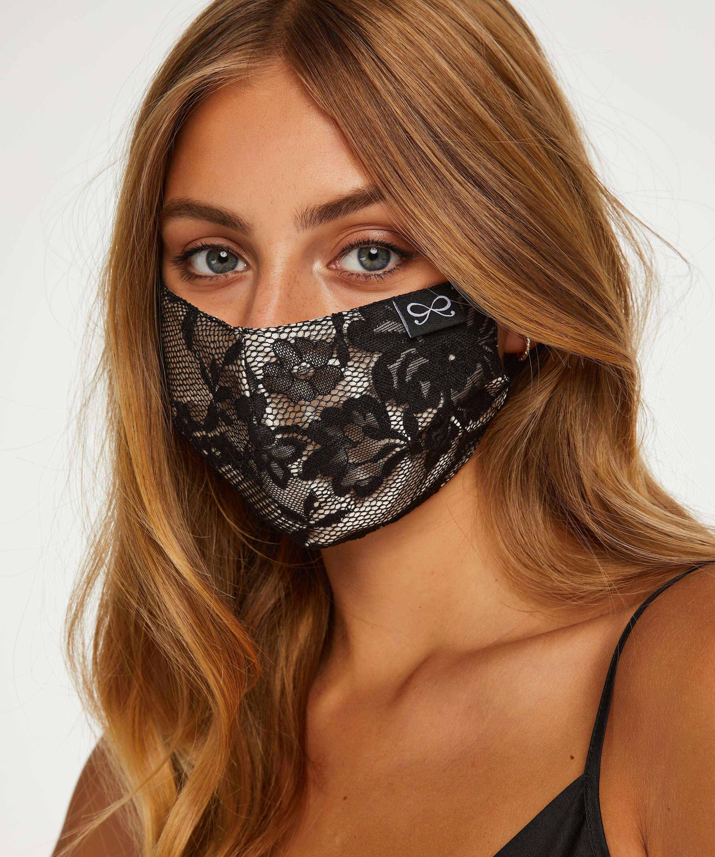 Masque Satin, Noir, main
