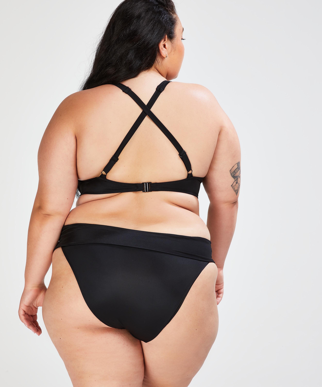 Slip de bikini à rabat Dream, Noir, main