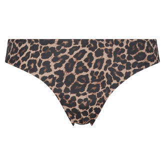 Bas de bikini Rio Leopard, Beige