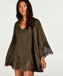 Kimono Lace Satin Indra Petite, Vert