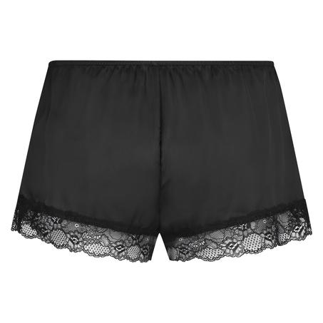 Short de pijama Satin, Noir