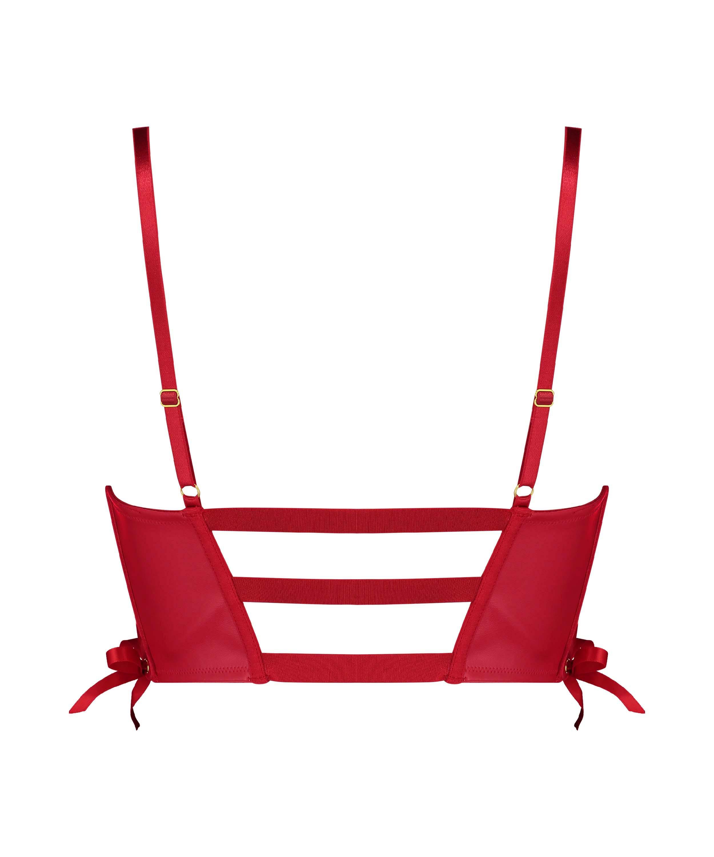 Soutien-gorge à armatures préformé push-up Manu, Rouge, main