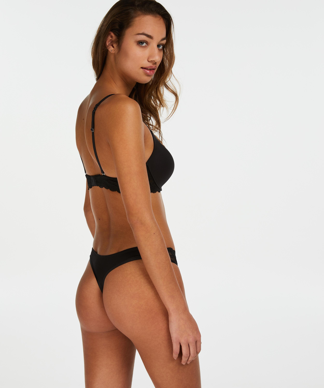 Soutien-gorge à armatures préformé push-up Angie, Noir, main