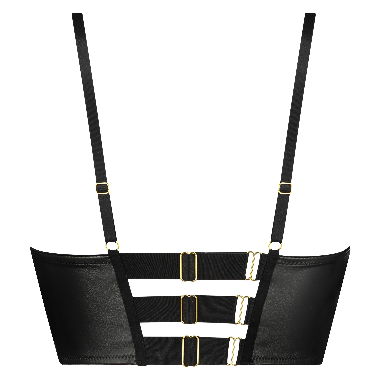 Soutien-gorge à armatures push-up préformé longline Talia Taille A - F, Noir, main