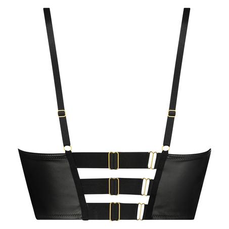 Soutien-gorge à armatures push-up préformé longline Talia Taille A - F, Noir