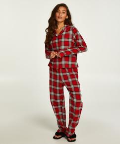 Pyjama Check Twill, Rouge