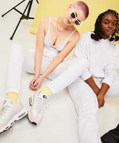 Pantalon de jogging Snuggle Me, Blanc