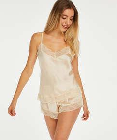 Short de pijama Satin, Beige