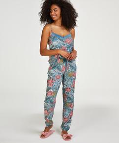 Pantalon de pyjama tissé, Vert